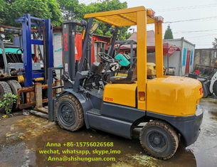 China TCM FD30 Used 3 Ton Forklift Truck Japan Made Hydraulic System With Side Shift supplier