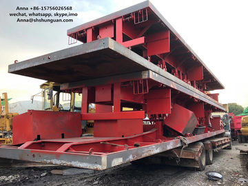 China 40ft 3 Axle Sea Container Trailer , Used Semi Flatbed Trailers Steel Material supplier