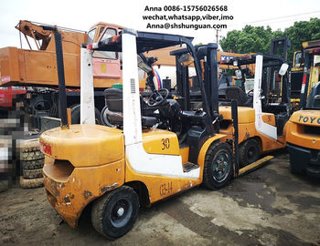 China secondhand cheap Used 3 ton forklift TCM FD30 diesel forklift supplier