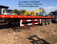 China 20 Ft Tri Axles Used Truck Trailers Single Drum Roller For Transportation factory