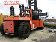 Flexible Used Container Handler , Reach Stacker Forklift Hydraulic Powered Steering Wheel
