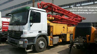 300 Kw Used Concrete Pump Truck Mounted Concrete Pump With Benz Truck Chassis