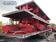 China 40ft 3 Axle Sea Container Trailer , Used Semi Flatbed Trailers Steel Material factory