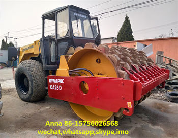 China 265L Fuel Tank Second Hand Road Roller 160KN / 79.5KN Vibration Frequency factory