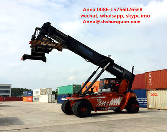 China New Battery Used Reachstacker Lifting Stacker Diesel Engine Power Source factory