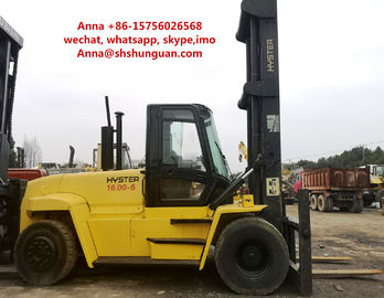 China 16000kg USA Hyster Used Industrial Forklift 12.00 R20 / 11.0-20 Tyre Size factory