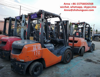 China 2 Or 3 Stage Mast Toyota Used Industrial Forklift TCM FD30 FD50 3t 5 Ton factory