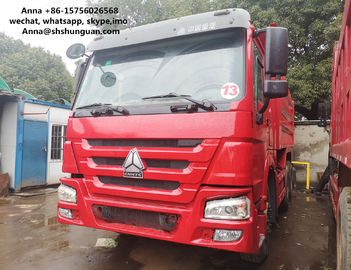 China HOWO 375 Euro 3 Used Dump Trucks 9000 * 2500 * 3500 Mm Easy Operation factory