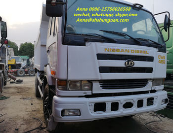 China Durable 25 Tons Used Dump Trucks , Japan 10 Wheel Dump Truck PF6 Engine distributor