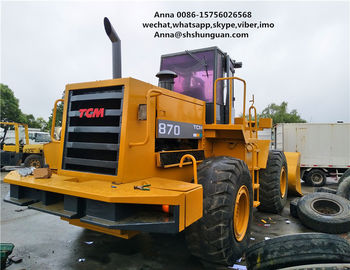 China 5000kg Rated Load Used Wheel Loaders Payloader 870 Close Cab Used Loader factory