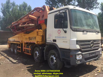 China 48 Meter Sany Used Concrete Pump Truck 11420 * 2500 * 4000 Mm Diesel Power distributor