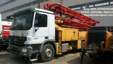 China 300 Kw Used Concrete Pump Truck Mounted Concrete Pump With Benz Truck Chassis distributor