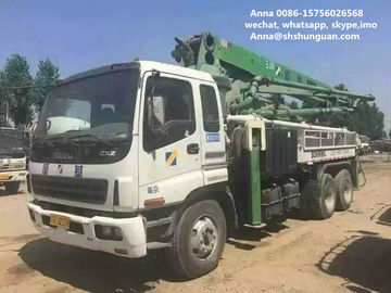 China 34m Boom Used Concrete Pump Truck , Germany Schwing Concrete Pump Truck distributor