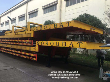 China Heavy Duty Used Truck Trailers , Lowboy Low Bed Semi Second Hand Truck Trailers distributor