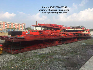 China Large Scale Used Truck Trailers , Container Transport Skeleton Flatbed Semi Trailer distributor