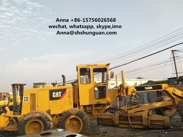 China 140 K Used Motor Graders , 140H Caterpillar Road Grader 185 HP Rated Power distributor