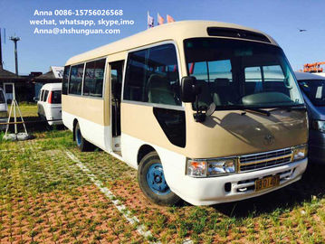 China Small 20 - 30 Seats Used Coaster Bus , Diesel Engine Used Toyota Coaster Bus distributor