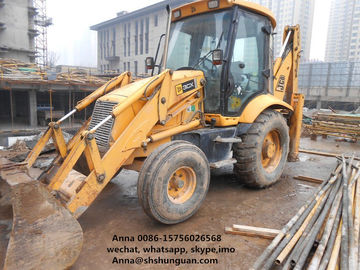 China JCB 3CX 4CX Used Backhoe Loader 1 M3 Bucket Capacity For Construction distributor