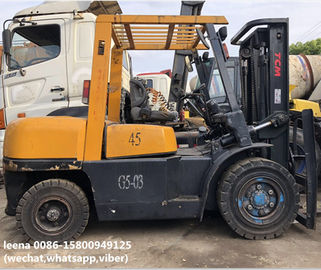 China used 4.5ton tcm forklift FD45T8 originally made in japan ,worked for 2000 hrs, 3m lefting height factory