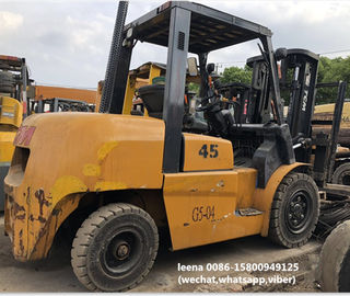 China used tcm 4.5ton FD45T9 diesel forklift , low work hrs, originally made in japan , 3 meters lifting height factory