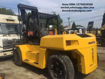 China komatsu used 15ton fd150 diesel forklift , industrial 15t forklift factory