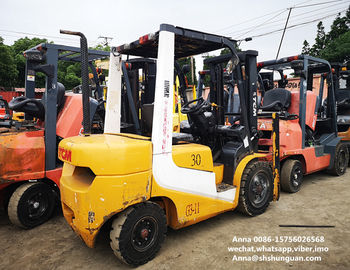 China tcm used diesel forklift manual 3 ton isuzu engine with 3000mm mast distributor
