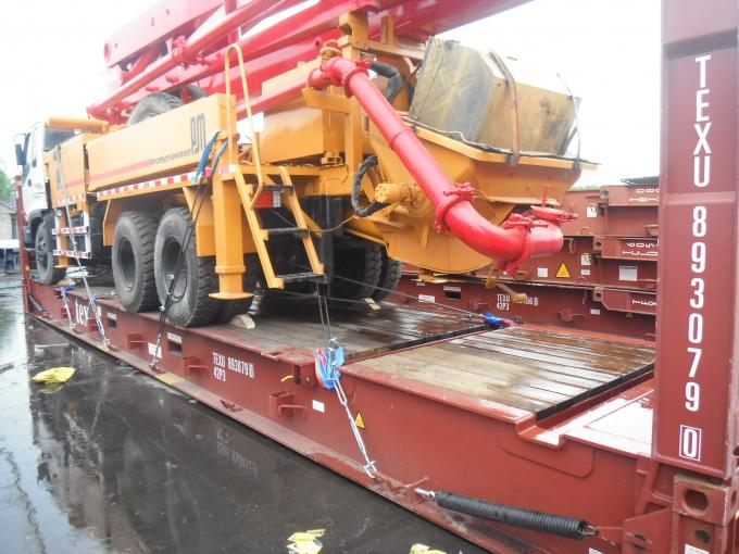 34m Boom Used Concrete Pump Truck , Germany Schwing Concrete Pump Truck