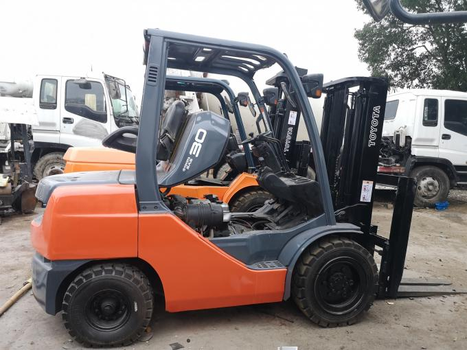 TCM FD30 Used 3 Ton Forklift Truck Japan Made Hydraulic System With Side Shift